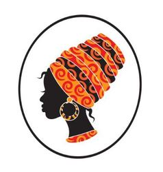 African women face in the frame vector