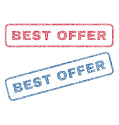 best offer textile stamps vector image vector image