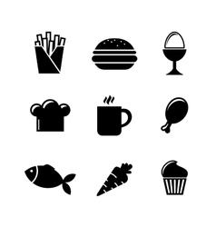 Collection of food icons vector image vector image