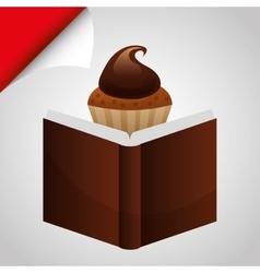 Cupcake recipe design vector