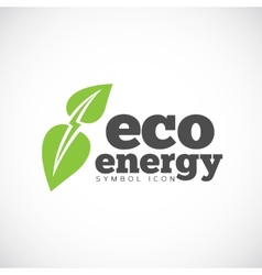 Eco energy concept symbol icon or logo template vector
