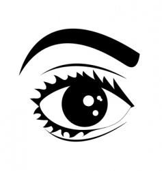 eye sketch vector image
