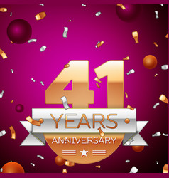 Forty one years anniversary celebration design vector