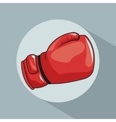 glove boxing pop art comic design vector image