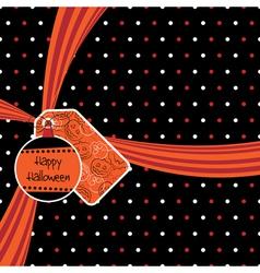 halloween ribbon vector image