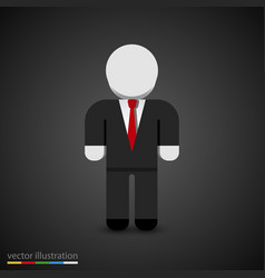 man in tuxedo sign businessman icon vector image