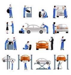 Mechanic icons set vector