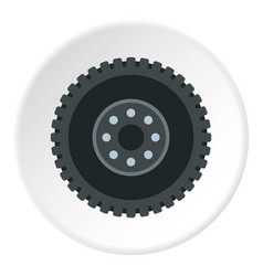 Metal gear icon circle vector