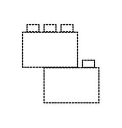 Module brick lego piece of puzzle toy icon vector