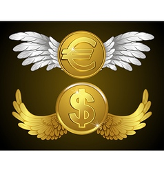 Money wings vector image