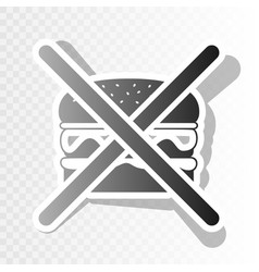 no burger sign new year blackish icon on vector image vector image