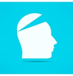 Open your mind design Free your mind Opened head vector image