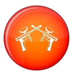 Paintball guns icon flat style vector