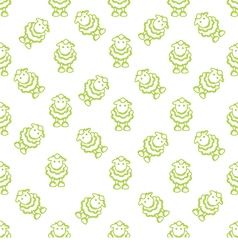 Pattern with lambs vector image vector image
