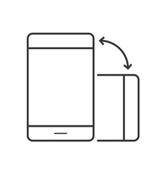 phone rotate line icon vector image