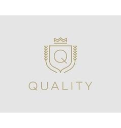 Premium monogram letter q initials ornate vector