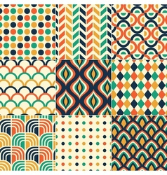 seamless retro colorful pattern vector image vector image