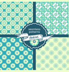 Set of tribal texture geometric seamless patterns vector