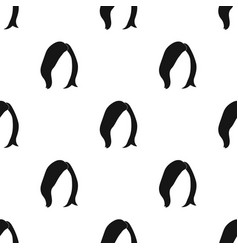 Shortwhite back hairstyle single icon in black vector
