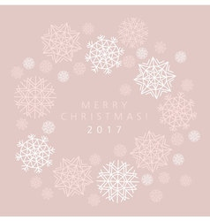 Snowflake winter card of header in gentle feminine vector