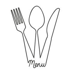 tool cutlery silhouette icon vector image vector image