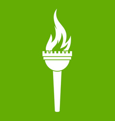 torch icon green vector image