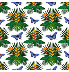 tropical bouquet seamless pattern vector image vector image