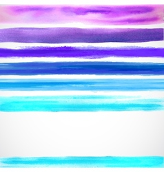 Watercolor color background with some stripes vector image vector image