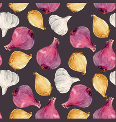 Watercolor onion pattern vector