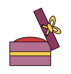 wedding ring gift box vector image