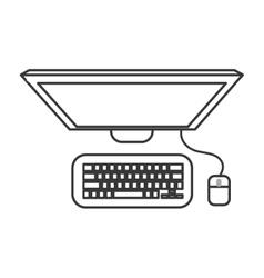 Computer gadget design vector