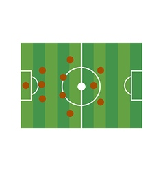 Football field 3-4-3 vector