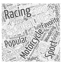 The popularity of supercross motorcycle racing vector