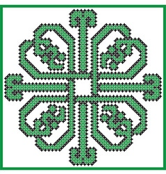 Celtic endless knot in square clover with hearts e vector image