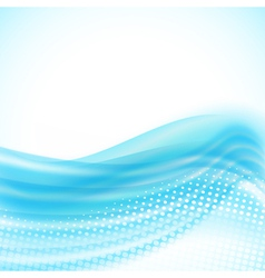 Abstract light blue flowing background vector