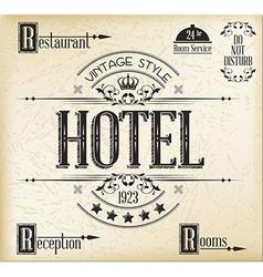 Hotel typography vector