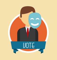 Us presidential voting concept vector
