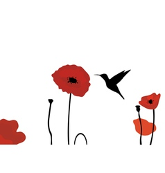 Poppies vector