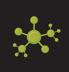 Line molecular sctructure conection vector
