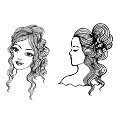 Black and white sketches vector