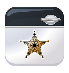 Police car door app icon vector