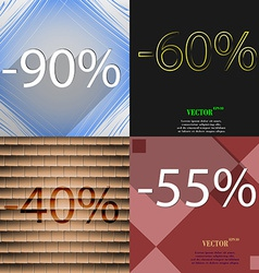 Set of abstract backgrounds and interest discount vector