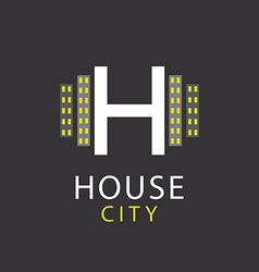 H letter logo house architecture icon vector image