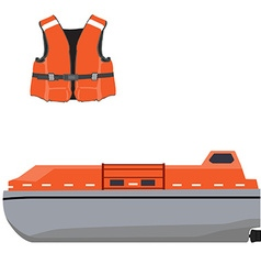 Life boat and jacket vector