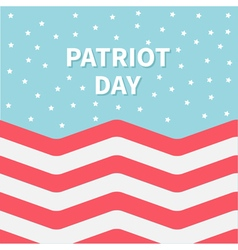 Red and white strip ocean star sky patriot day vector
