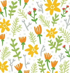 White background seamless pattern with colorful vector