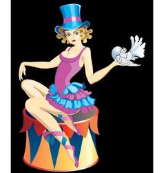 Circus girl vector