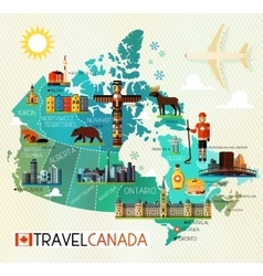 Canada travel collection vector