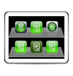 Form green app icons vector