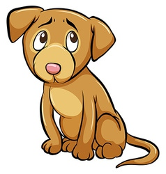 A tamed dog vector